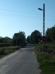 Przejazd kolejowy na drodze Zagrody-Żulin